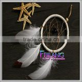 wholesale hottest white feathers 4inch dream catcher