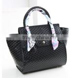 Top sale made in china wholesale ceoss silk decorative bags korean floral print bat wing shape handbags