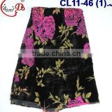 CL11-46 The newest fashionable velvet lace with stone,velvet fabric more soft and comfortable