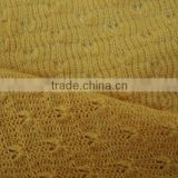 knitted acrylic textile fabric