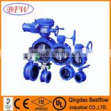 worm gear wafer type metal seated butterfly valve