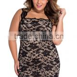 Black Lace Nude Illusion Dress Clubwear Celebrity Women Dress PW- LC21036-2