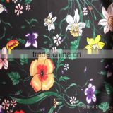 Wholesale 50D*50D Polyester Satin Digital Flower print chiffon fabric for Autumn garment