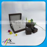 gift and promotion industrial use customized luxury wooden jewerly box for jewelry set packaging