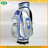 Fashion and High quality personalized stand golf bag & Protable PU golf bag