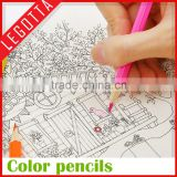 Non toxic factory manufactured writing sketching art color pencil