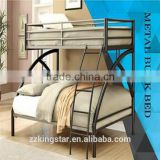 wholesale school metal double bunk bed,modern double decker metal bed