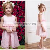 Baby girl wedding dress wholesale pink lace design perfect present for littile princess