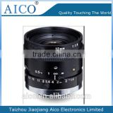 cn aico low distortion fixed focus 5mp c mount 2/3 inch F1.4 12mm mega pixels cctv industry lens