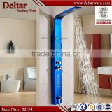 led shower panel blue color panel china product, shower stone wall panel, bamboo shower panel