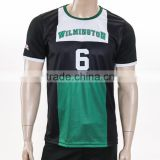 blank comfortable sports garment,men's sports t shirt soccer jersey with logo printing