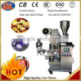 Hot sale factory price inner and outer tea bag with tags & thread |manipulator tea bag packing machine