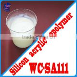 WC-SA111 Silicon Acrylic Polymer Emulsion for high-end multi-color