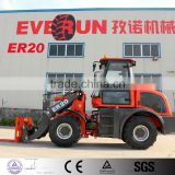 Mini Wheel Loader Qingdao Everun Brand ER20 Agricultural Machines With Pallet Forks/Bucket
