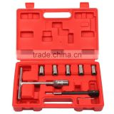 7PC Diesel Injector Seat Cutter Set Cleaner Carbon Remover Tools Kit