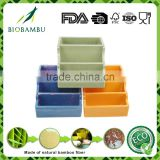 Colorful useful green bamboo fiber pen container/storage articlesarticles