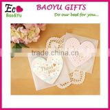 Heart Shape Folded Paper Greeting Card Handmade Valentine's Day Cards Handmade Decoration Greeting Card