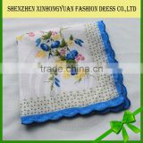 custom fancy printed embroidery bandana, small handkerchief