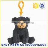 Plush keychain for promotion stuffed small animals cheap black teddy bear keychain promotional