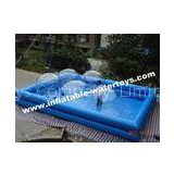 PVC tarpaulin two layer sky blue inflatable pool for water walking ball and paddler boat