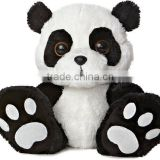 Embroidery Black & White Cartoon Panda with Big Eyes Animal Toy