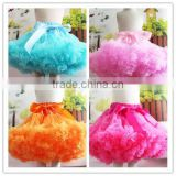 Top sale fluffy tutu pettiskirt for baby girls american girls tutu dress sloid color various color chiffon tutu dress in China