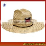 Australia Men Straw Lifeguard Hat With Adjustable String/Summer UV Protection Surf Straw Hat/Beach Straw Hat-ZT/1734