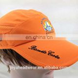 Front silk screen print Cycling sports caps custom bill letters embroidered microfiber sports caps