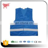 Hi vis blue malaysia vest safety vest for women with reflective stripes in EN471 Class 2