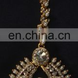 Indian bridal kundan crystal rhinestone headpiece exporter, indian wedding rhinestone headpiece manufacturer