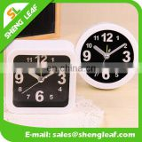 Square fashion Simple and easy promotion gifts Black mini alarm clock wholesale