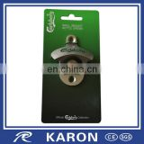 custom logo wall mounted bottle opener with paper board
