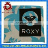 embossed fabric label
