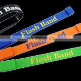 Customized silicone wristband with usb