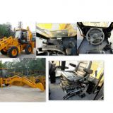 Backhoe loader, front shovel back digging,an all-in-one dashboard is designed,SY747