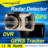 3 inch touchscreen Car dash camera full fhd gps g-sensor radar detector/built in gps tracker