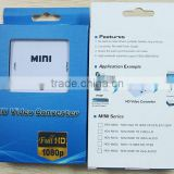 1080P Mini VGA 2 HDMI Converter 1080P Converter Adapter Audio Video Digital Converter for PC HDTV