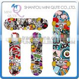 MINI QUTE Outdoor Fun & Sports 4 color plastic funny kids boy children scrawl longboards skateboard educational toy NO.WME05121
