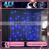 ACS Star Cloth, DJ Booth Deck Stand Curtain , White Leds For Home Party                                                                         Quality Choice