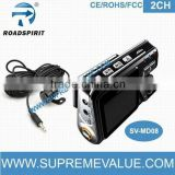 Appealing HD720P 2ch car rear view camera/dual camera car recorder with H.264 compression format