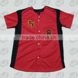 Applique embroidery baseball jersey