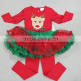 2015 kids clothes wholesale baby clothing christmas dress set baby christmas outfits