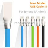 Factory Supply Laser logo all in one usb data cable 2in1 usb data cable support newest IOS system