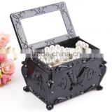 D16 ANPHY Cabinet Flower Pattern Storage Case With Mirror Jewelry Box Holder Display Stock