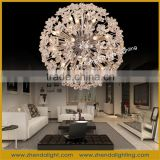 Lucky ball &spherical shade crystal pendant lighting lamp&ball pendant chandelier light for hotel and villa