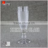 New Products In Market Glass cup/ hot sales design Hand press European Style wine glass goblet
