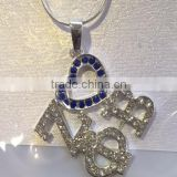 Zeta phi beta heart square shape earrings greek crystal jewelry for varsity girls cheap wholesale