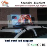 RGX Outdoor Full Color led display- Taxi Top Moving LED Sign, Clear Double Side Small Billboard