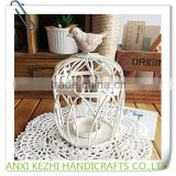 Classical White Wrought Iron Birdcage Candlestick Round Household Arts and Crafts Candle Holder                                                                         Quality Choice
