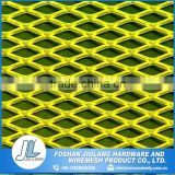 a higher strength heat treated plastic coated pure titanium expanded mesh